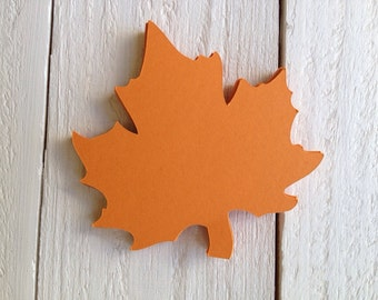 Autumn Leaf Paper Die Cut 3.5""