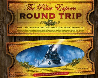 5 (five) Polar Express Invitation Tickets