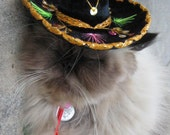 Sombrero for dog or cat - Customizeable Buckaroo Black