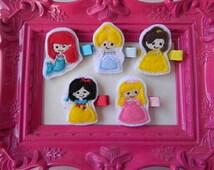 Felt Hair Clips Princess Felt Hair Clip Collection