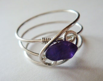 Amethyst Ring  Amethyst Jewelry  February Birthstone  Sterling Rings for Women  Silver Ring  Rings  Sterling Silver