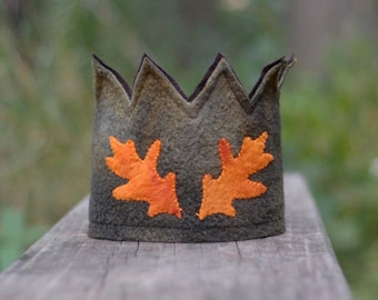Custom Waldorf Birthday Crown - OOAK Hand Dyed Wool Felt - Toddler and Children's Sizes