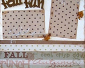 Scrapbooking Pages Premade Layouts Fall Leaves 2 Page Scrapbook Kit Autumn