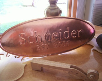 Personalized Copper 7th Wedding Anniversary Gift