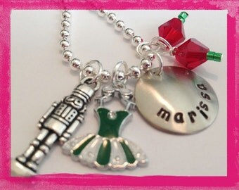 Nutcracker Charm Necklace Necklace - Hand Stamped Personalized Nutcracker Ballet
