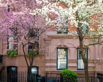 New York Greenwich Village Photograph nyc Photo Brick Building Vintage Spring Dreamy City Apartment nyc54