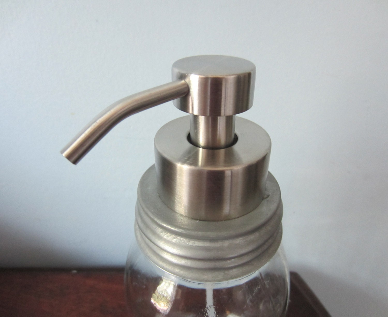 Foaming Soap Dispenser Lid In Stainless Steel For Mason Jars