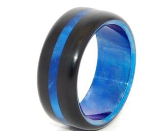 wedding rings, titanium rings, wood rings, men's ring, women's ring, unique wedding ring, engagement rings, commitment ring - LOVE'S OMEN