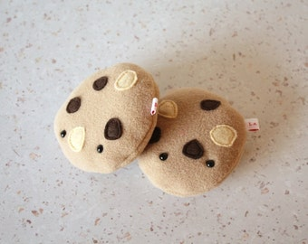 Peluche cookie - cute kawaii nourriture mignon polaire marron gateau