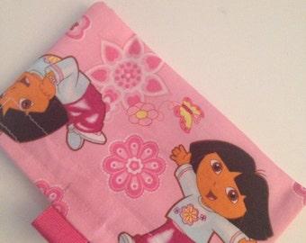 Pink Dora Reusable Snack Bag