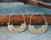 Silver Hoop Earrings - Sterling Silver Hoop - Silver Earrings | Handcrafted Jewelry