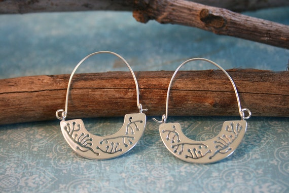 Silver Hoop Earrings - Sterling Silver Hoop - Silver Earrings | Handcrafted Jewelry