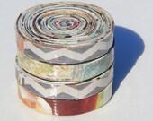 Set of 4 recycled magazine coasters