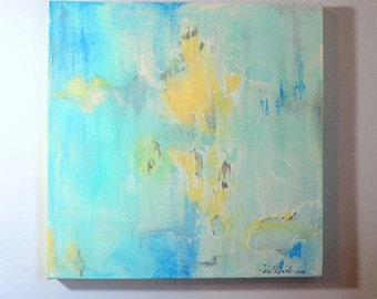 Abstract Art, Art Wall Decor, Canvas Painting, Abstract Painting, Home Decor, Blues and Yellow Golds, Abstract Canvas Art,