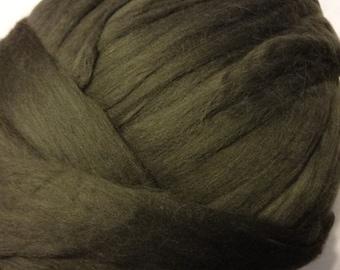Wool Roving, Merino Roving, Merino Wool Roving, Felting Wool, Spinning Wool - Carbon - 8oz