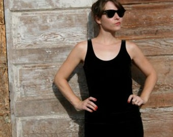 Black Velvet body con Dress size M