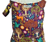 LARGE Zippered Wet Bag w/ Waterproof Lining -Fantasy Forest - FAST SHIPPING