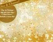 Clip Art, Glitter Glamour Clipart, Starry Clipart, Holiday Clip Art