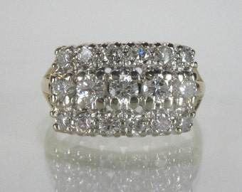 Vintage Diamond Wedding Ring - 0.95 Carats Diamond Total Weight - Appraisal Included