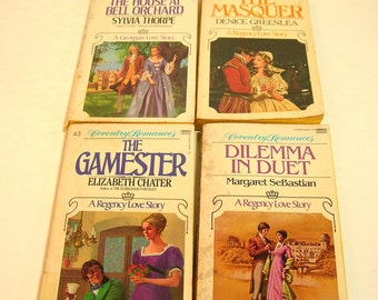 Vintage Romance Novels, Coventry Romances, Regency Romances