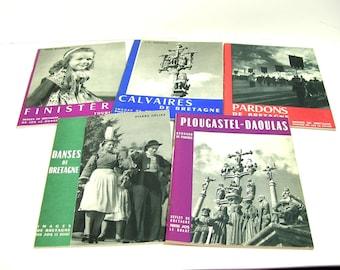 Images De Bretagne Collection Of Five Vintage Books