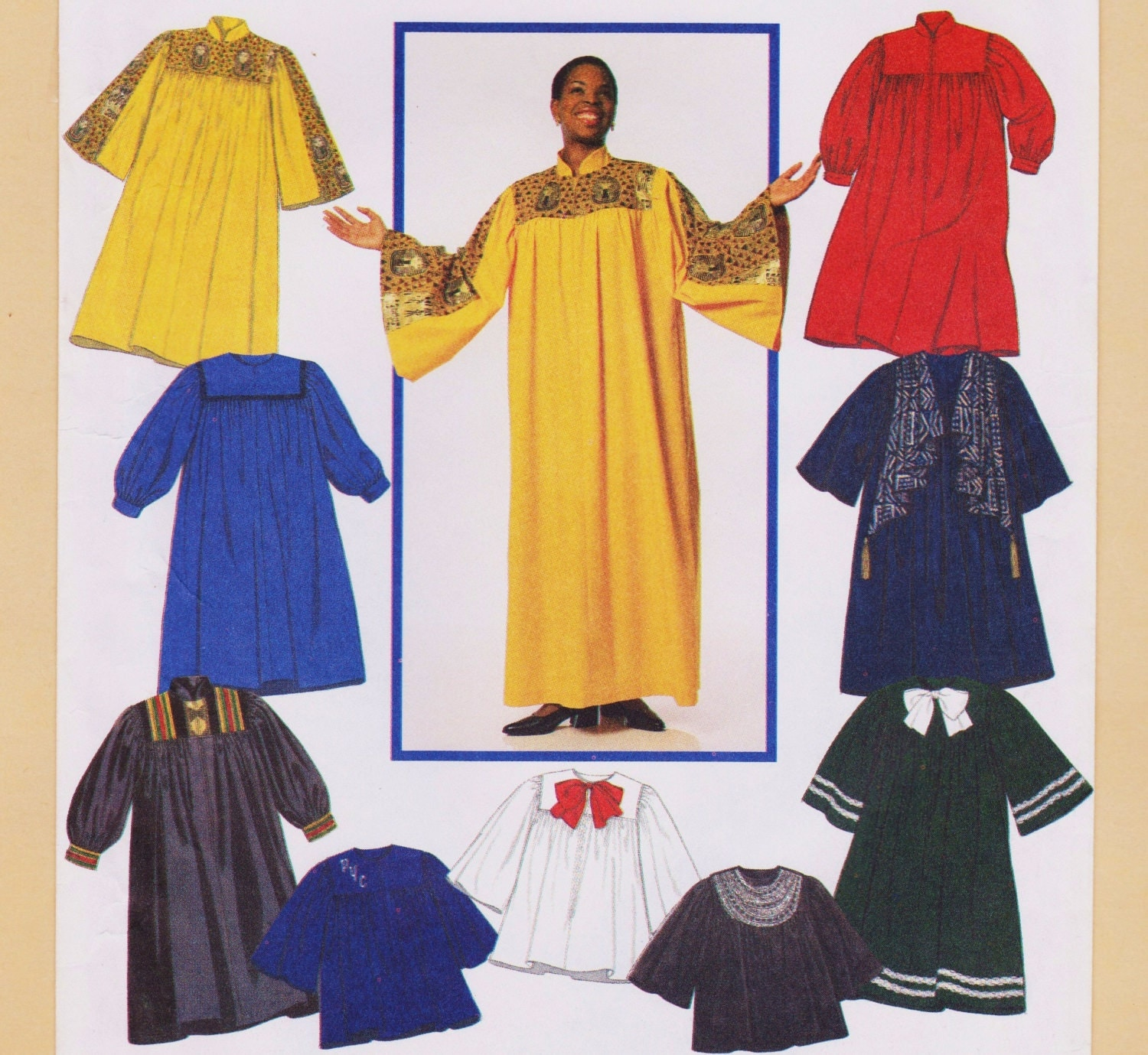 Choir Robe Graduation Gown Pattern Factory Folded Unused All