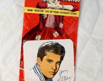 1950s Rick Nelson Iron On Picture Patch - Original Packaging - Rare - Collectible
