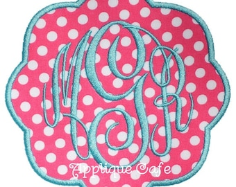 024 Petal Patch Machine Embroidery Applique Design