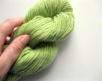 Worsted weight wool yarn- Mountain Mohair - Greenery - knitting yarn weight - 140 yards - wool and yarn