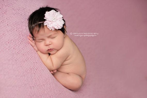 Baby Headband - Baby Flower Headband - Infant Headband - Newborn Headband - Toddler - Head Band - WhisperPink