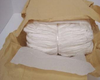 Silk Hankies / Mawata - 4 ounces (oz) - undyed - white