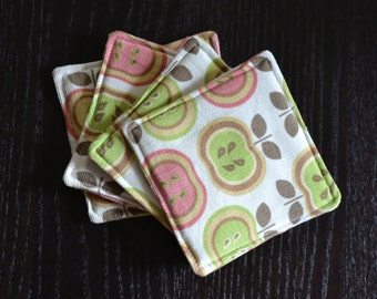 Cotton Coasters / Fabric Coasters / Vintage-Inspired Fabric Coaster Set / OOAK