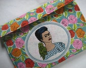 Frida Kahlo  Interchangeable Circular Knitting Needle Case Embroidered