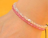 SALE- Crystal and thread bracelet.You choose your color