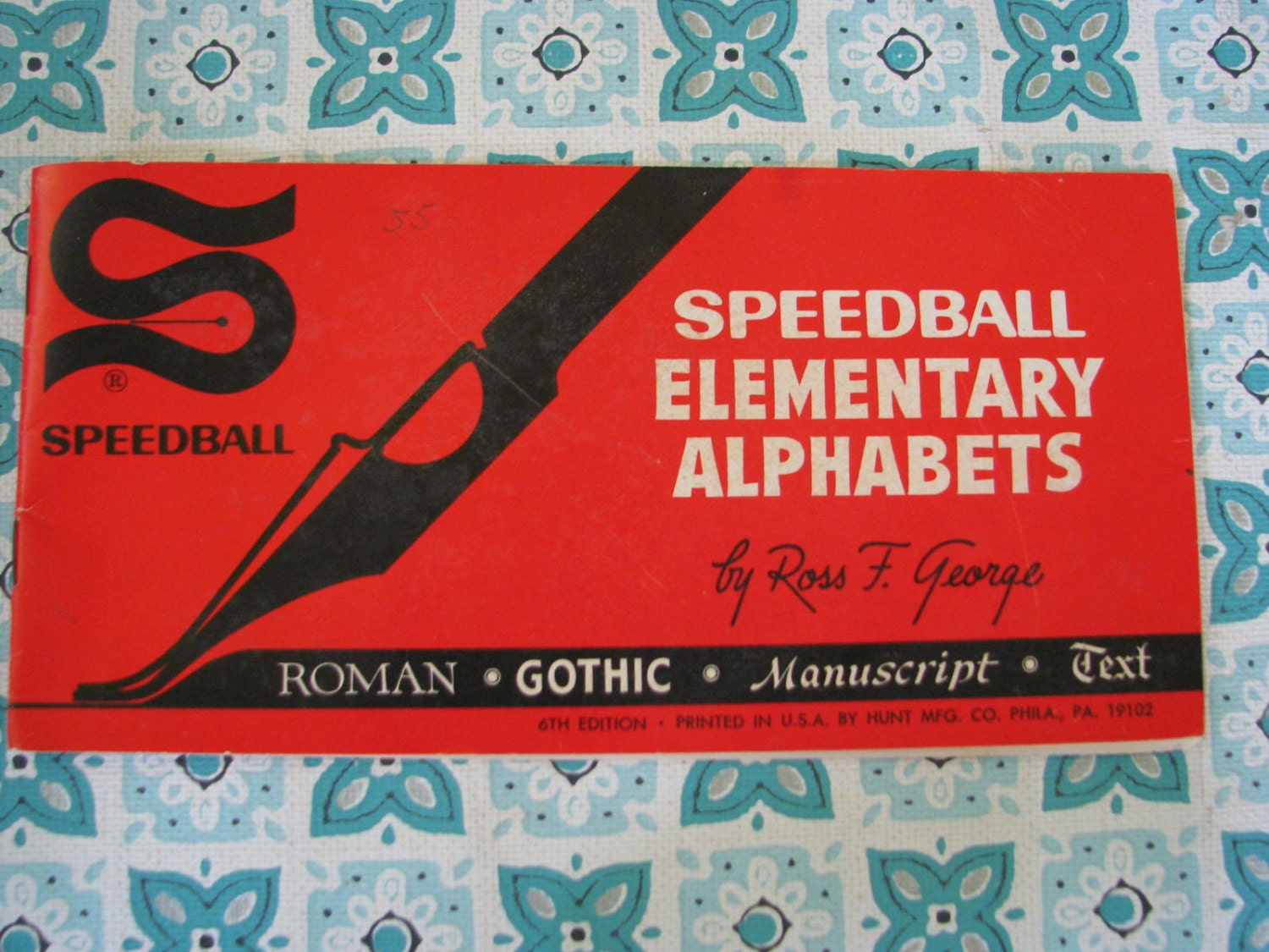 Nifty Vintage 1940 Speedball Lettering Book