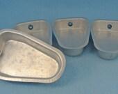 Four Vintage Aldon Aluminum Popsicle Ice Cream Treat Molds