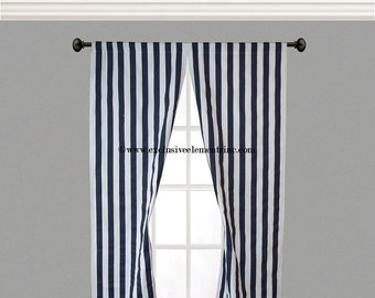 Striped Curtains | Etsy