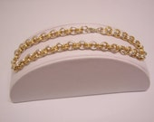 Reserved for Vonda -   Simple, but pretty ankle bracelet gold and silver color 9""