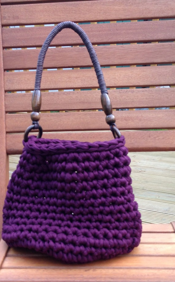 Crochet Patterns Chunky Yarn : Crochet Pattern Chunky Textile Yarn Bag PDF - Instant Download