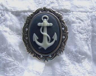 Wedding Garter Brooch - Anchor - US Navy - Marines - Coast Guard - Nautical Wedding - Military Bride Pin