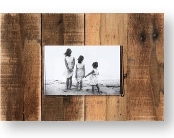 Cool Rustic frame made from cedar planks 9 x 13 - holds a 4 x 6 photo