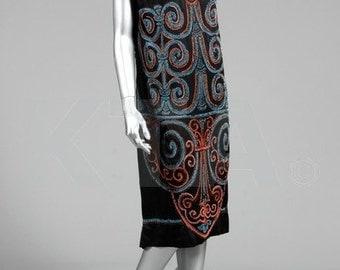 Callot Soeurs Original 1920s Beaded Dress Museum Quality Amazing Rare Collectible Art Deco Period
