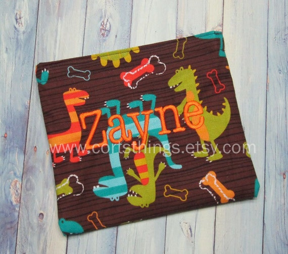Personalized Reusable Snack Bags for Kids - Pick Your Fabric