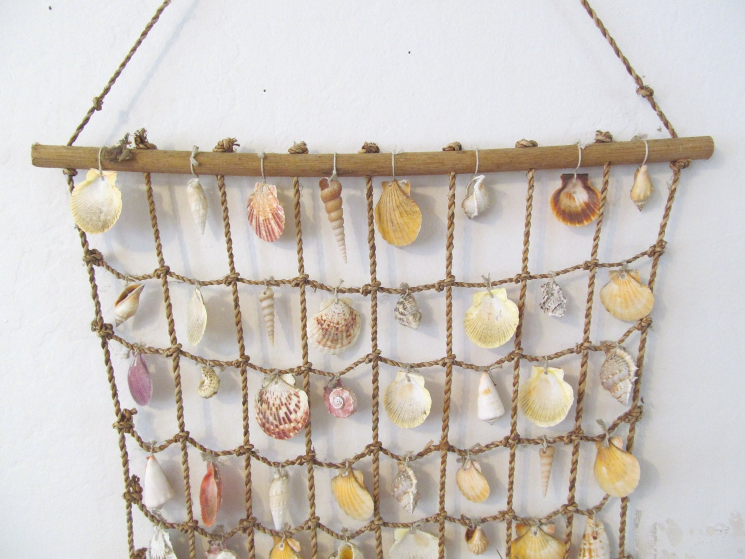 Vintage Sea Shell Curtain Sea Shell Wall Hanging