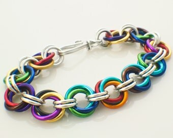 Fast Chainmaille Bracelet Kit - Uber Linked Loops in Anodized Aluminum