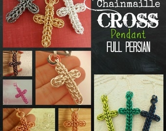 Chainmaille Cross - Full Persian PDF Instructions
