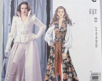 Coat top corset belt Steampunk Adult Costume pattern McCalls 6819 size 14-22