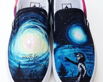 Custom Vans- Galaxy Supernova