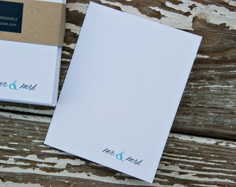 Thank You Note Cards - Mr and Mrs