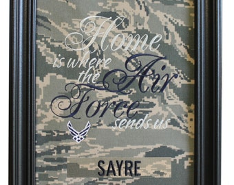 Home is where the Air Force sends us - ABU Fabric Mat